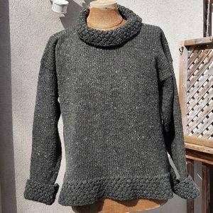 Rita Condron vintage green irish wool sweater